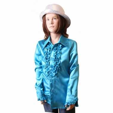 Blauwe disco kleding meisjes