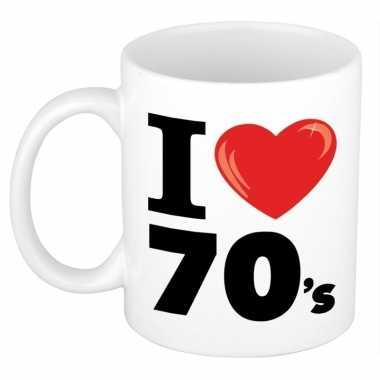 Cadeau beker jaren 70 liefhebber 300 ml