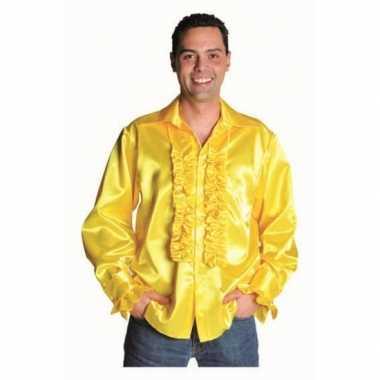 Geel glimmende kleding deluxe