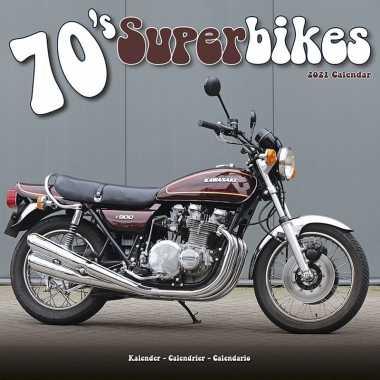 Motors/motoren 2021 maandkalender 1970s/jaren 70 superbikes