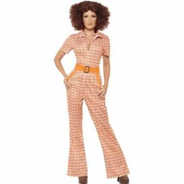 Oranje jaren 70 kleding dames