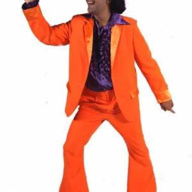 Oranje kleding wijde broekspijpen