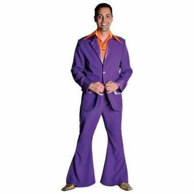 Paarse disco kleding heren