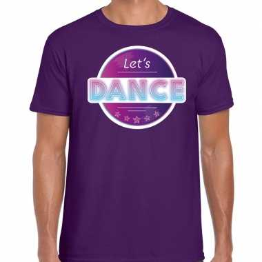 Party/lets dance 70s/80s/90s feest shirt disco thema paars heren
