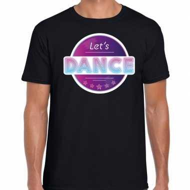 Party/lets dance 70s/80s/90s feest shirt disco thema zwart heren