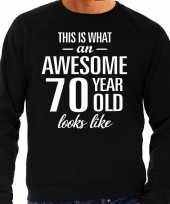Awesome 70 year 70 jaar cadeau sweater zwart heren